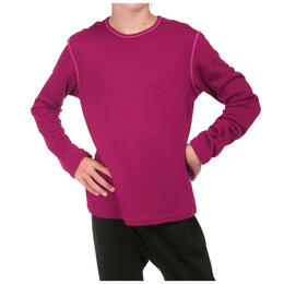 Hot Chillys Kids' Pepper Bi-Ply Long Sleeve Crewneck