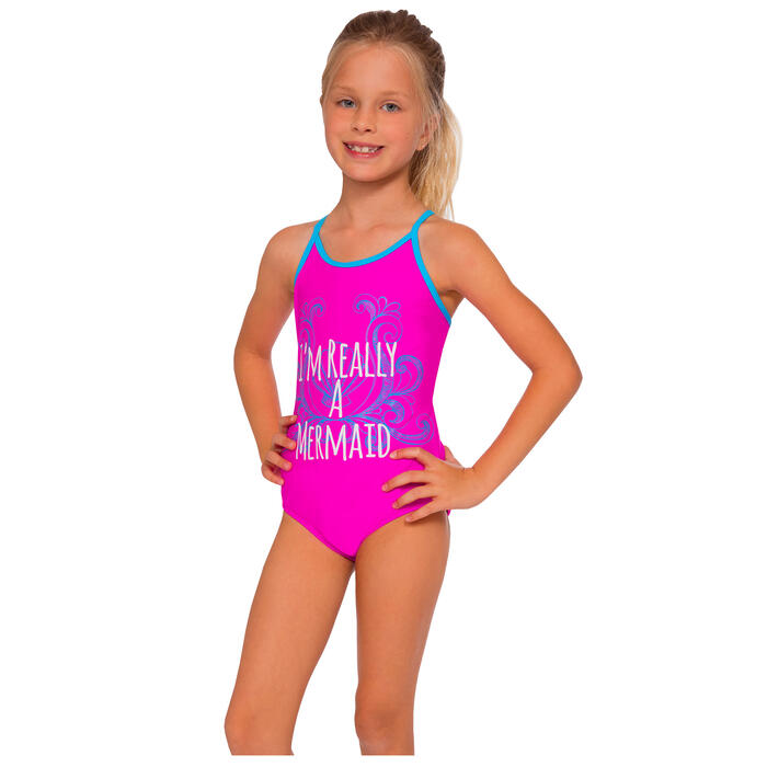 InGear Fashions Girls' Lattice One Piece Sw