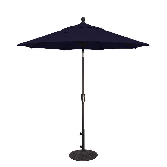 Treasure Garden 7.5u0027 Push Button Tilt Aluminum Shade Umbrella