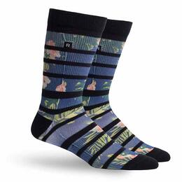 Richer Poorer Men's Midweight Hibiscus Crew Socks
