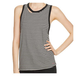 n:Philanthropy Women's Crystal Drop Arm Racer Striped Tank Top
