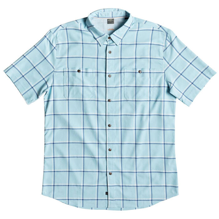 Quiksilver Men's Wake Plaid Short Sleeve Sh