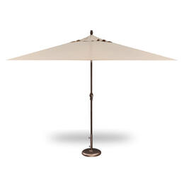 Treasure Garden 9' Push Button Tilt Umbrella - Bronze with Champagne