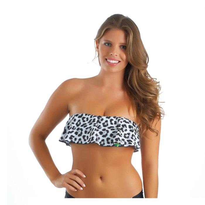 Hurley Jr. Girl's Leopard Bandeau Bikini Top