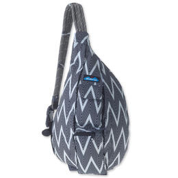 Kavu Women's Rope Sling Black Zigzag Bag