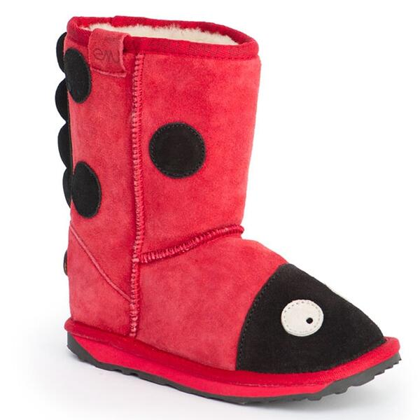 Emu Children's Little Creatures Walker Ladybird Apres Boots Right Side