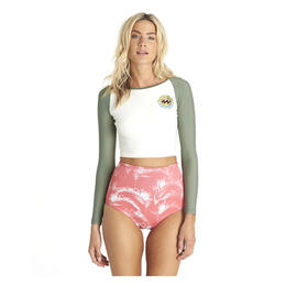 Billabong Women's Island Time Long Sleeve Crop Rashguard