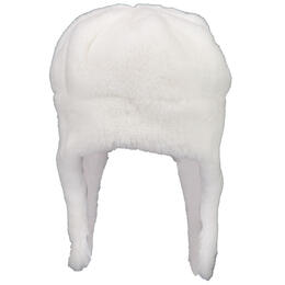 Obermeyer Girl's Orbit Fur Hat White