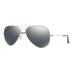 Ray-Ban Aviator Classic Sunglasses With Silver Mirror Lenses