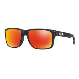 Oakley Men's Holbrook  Black Camo Collection Sunglasses with PRIZM Ruby Lenses