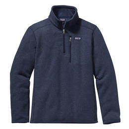 Patagonia Boy's Better Sweater Quarter Zip Fleece Pullover