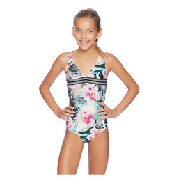 Next By Athena Girl's Undercover Tropics Halter One Piece Swimsuit