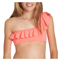 Billabong Girl's Sol Searcher One Shoulder Swim Set