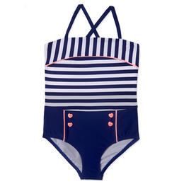 Hula Star Toddler Girl's Ships Ahoy One Piece