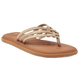 Sanuk Women's Yoga Salty Shimmer Casual Sandals
