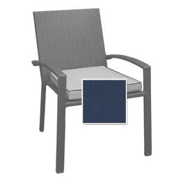 North Cape Dining Chair Cushion - Indigo W/ Dove Welt