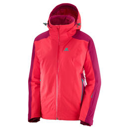 Salomon Women's Brilliant Ski Jacket, Hibiscus/Cerise