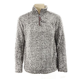 True Grit Men's Frosty Tipped Pile 1/4 Zip Sweater