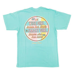 Jadelynn Brooke Women's A Wise Girl Knows Short Sleeve Tee Shirt