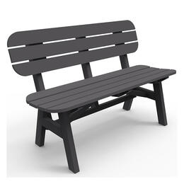 Seaside Casual Portsmouth 4 ft. Charcoal Bench