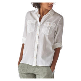 Patagonia Women's Lightweight A/C Buttondown Long Sleeve Shirt White