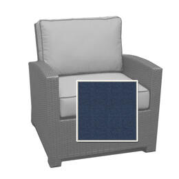 North Cape Cabo Club Chair Cushion - Indigo w/ Dove Welt