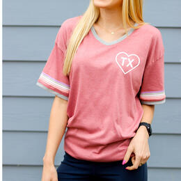 Jadelynn Brooke Women's Heart State Texas T-Shirt