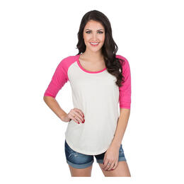 Lauren James Women's 3/4 Heathered Baseball T Shirt