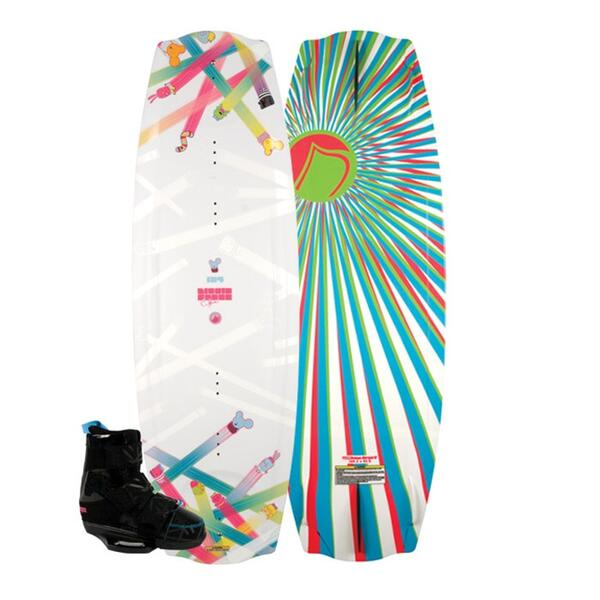 Liquid Force Women's Melissa Hybrid Wakeboard With Melissa 7-9 Bindings 10