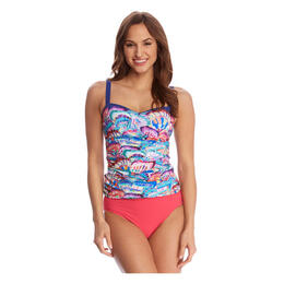 Gottex Women's Madame Butterfly Band Fly Tankini Top