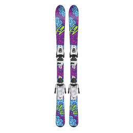 K2 Girl's Luv Bug All Mountain Skis with FDT Jr 4.5 Bindings '19
