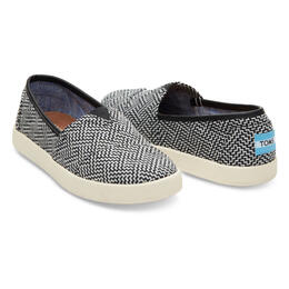 Toms Women's Avalon Slip-On Casual Shoes Black Geometric