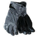 Obermeyer Kid's Cornice Insulated Ski Gloves Gray Bit Camo