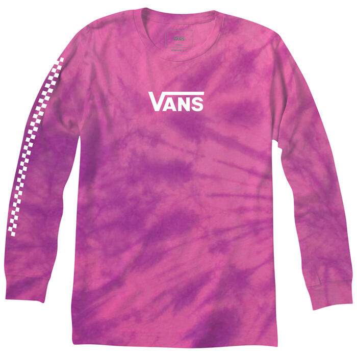 Vans Men's Tie Dye Checker Long Sleeve Shirt