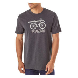 Patagonia Men's Snow Cycle Cotton/Poly Responsibili-tee T Shirt