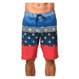 O'neill Men's Hyperfreak Boardshorts, Red/White/Blue