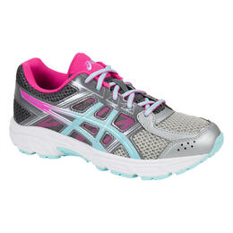 Asics Girl's Gel-Contend 4 GS Running Shoes Grey/Pink/Blue