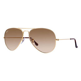 Ray-Ban Aviator Classic Sunglasses With Light Brown Gradient Lenses