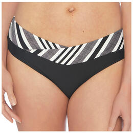 Next By Athena Women's Pipeline Vital Midrise Surplice Bikini Bottoms