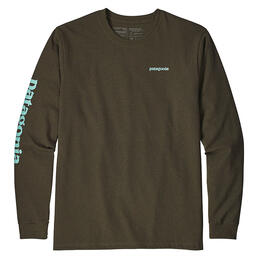 Patagonia Men's Long-Sleeved Text Logo Responsibili-Tee Shirt