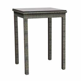 "North Cape Cabo 30"" Square Willow Pub Table with Glass Top"