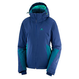 Salomon Women's Icecrystal Ski Jacket, Medieval Blue/Deep Lagoon
