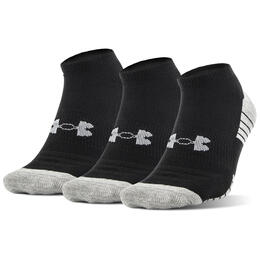 Under Armour Youth HeatGear Tech No Show Socks - 3 Pack
