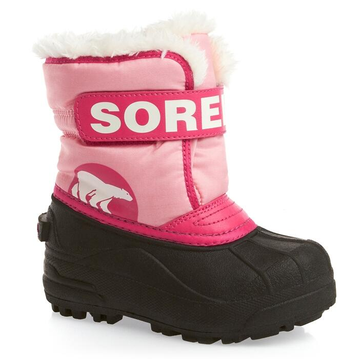 Sorel Youth Snow Commander Apres Boots Pink Right Side