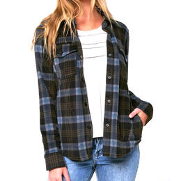 O'Neill Women's Zuma Superfleece Flannel Long Sleeve Top