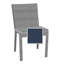North Cape Cabo Dining Side Chair Cushion - Indigo W/ Dove Welt