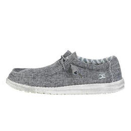 Hey Dude Men's Wally Linen Casual Shoes Iron