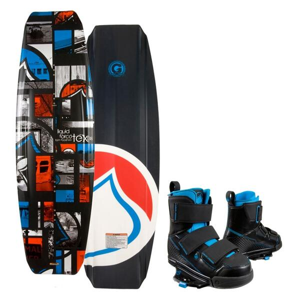 Liquid Force Men's Tex Wakeboard w/ Vantage CT Binding '13