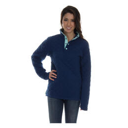 Lauren James Women's Lawson Quilted Pullover Sweater
