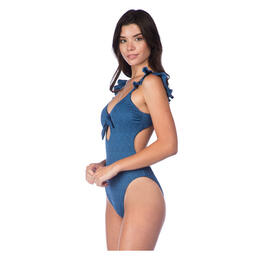 Lucky Women's All The Frills Key Hole One Piece Swimsuit